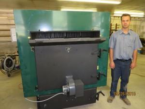 Glenwood 7080 Multi-Fuel Biomass Boiler Front View Door Closed 1