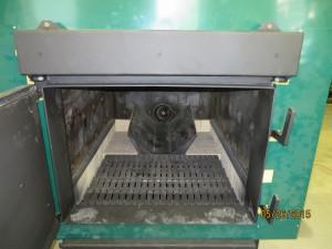 Glenwood 7080 Multi-Fuel Biomass Boiler Front View Door Open 4