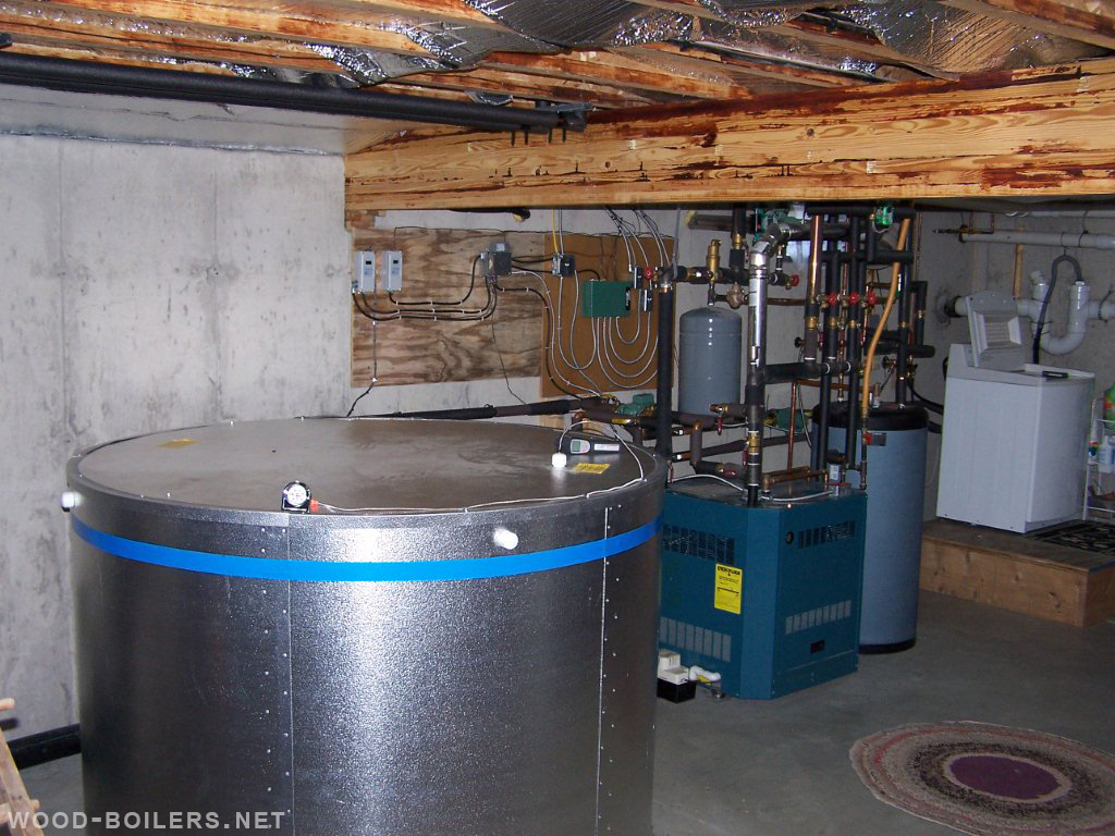 basement installation - wood boiler