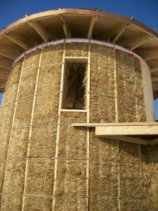 Solar Dragon - Construction Straw Wall 5 - Obadiah's Wood Boilers