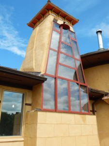 Solar Dragon - Completed Solar Chimney 1 - Obadiah's Wood Boilers