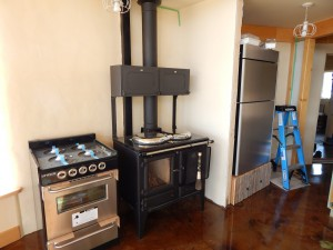 Solar Dragon - Interior - wood cook stove - Obadiah's Wood Boilers