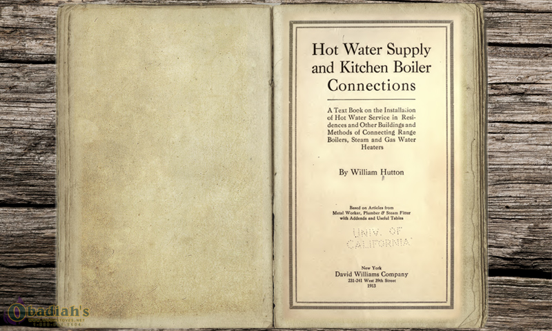 Domestic Hot Water Supply and Kitchen Connections - William Hutton - Obadiah's Wood Boilers
