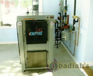 Pro-Fab boiler Empyre Elite Installation - Obadiah's Wood Boilers